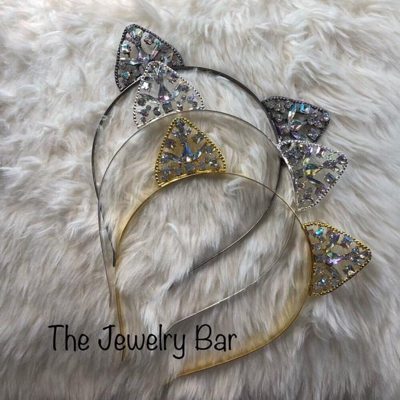 b611030df The Jewelry Bar Accessories | Crystal Cat Ears Headband Tiara ...
